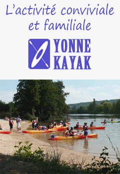 Location canoë-kayak Yonne (89)